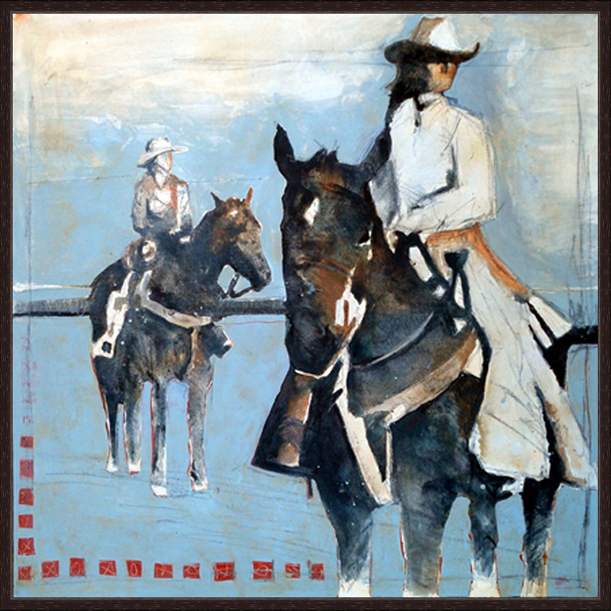 Rancher Couple Canvas Art