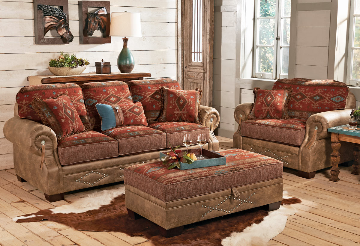 Western Leather Furniture Cowboy Furnishings From Lones
