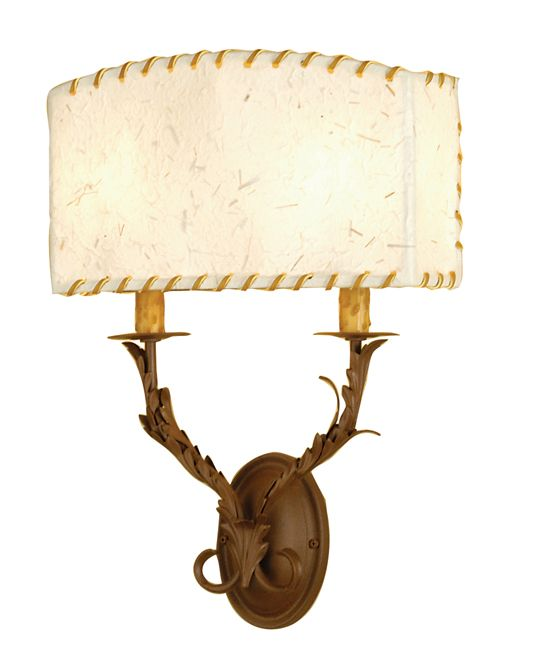 Ranchero Two Light Wall Sconce - Rust