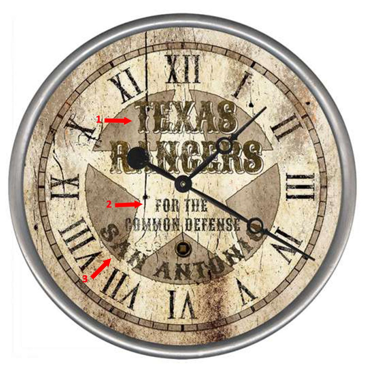Rangers Defense Personalized Wall Clock