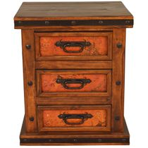 Natural Patina Copper Nightstand