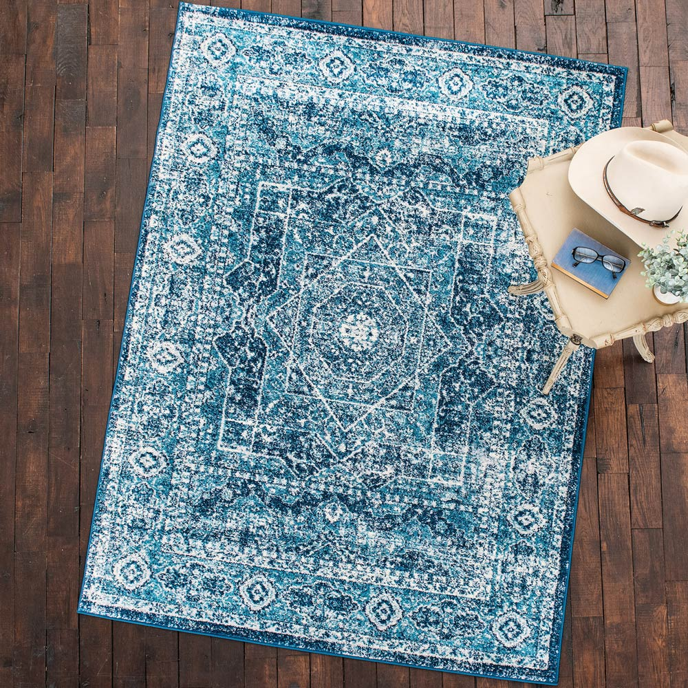 Rapid Waters Rug - 8 Ft. Round