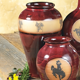 Real Red Saddle Slender Vase