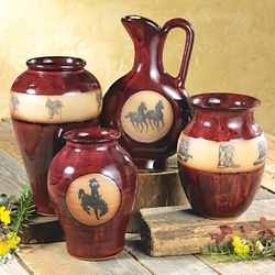 Real Red Western Pottery Vases