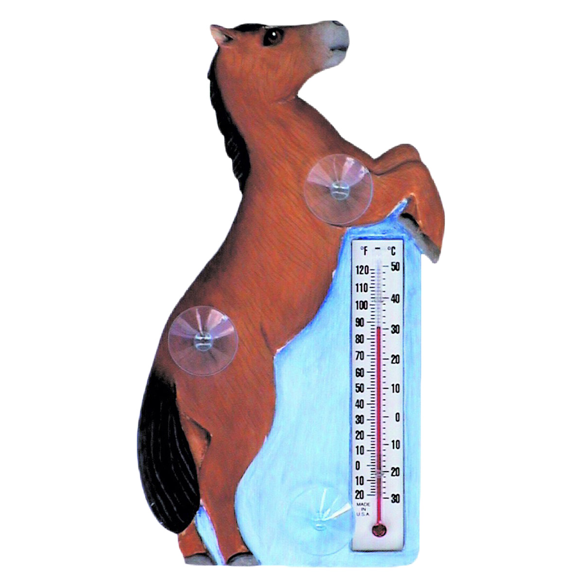 Rearing Horse Window Thermometer