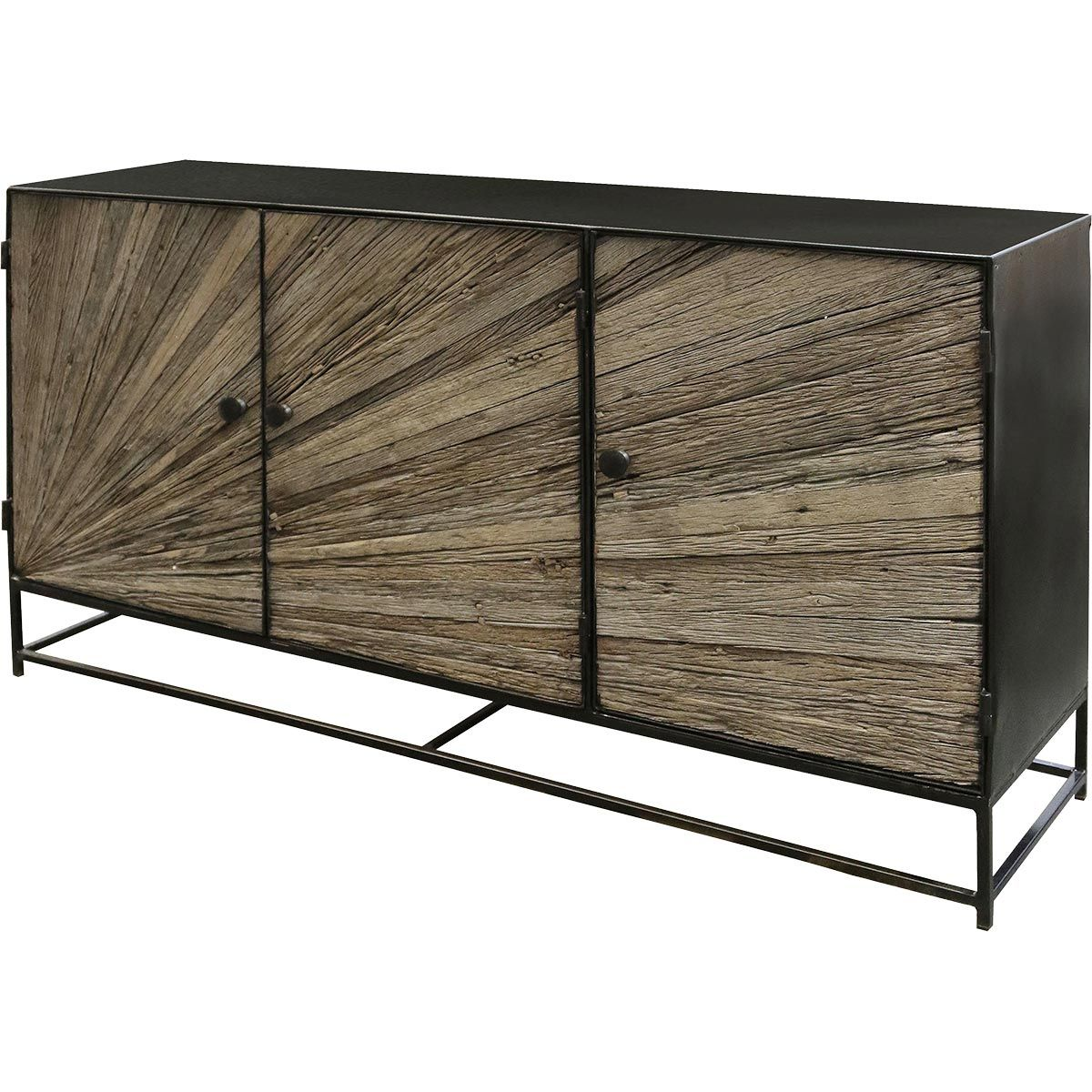 Reclaimed Wood Rays Sideboard