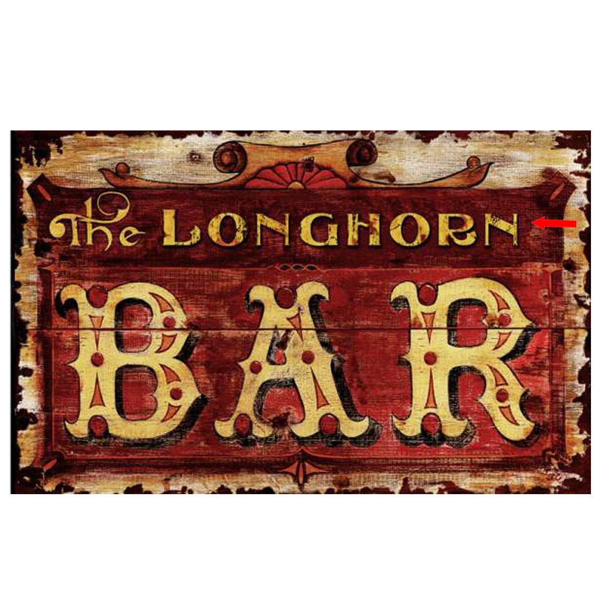 Red Bar Personalized Sign