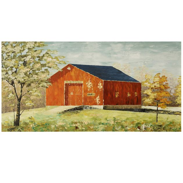Red Barn Canvas Wall Art