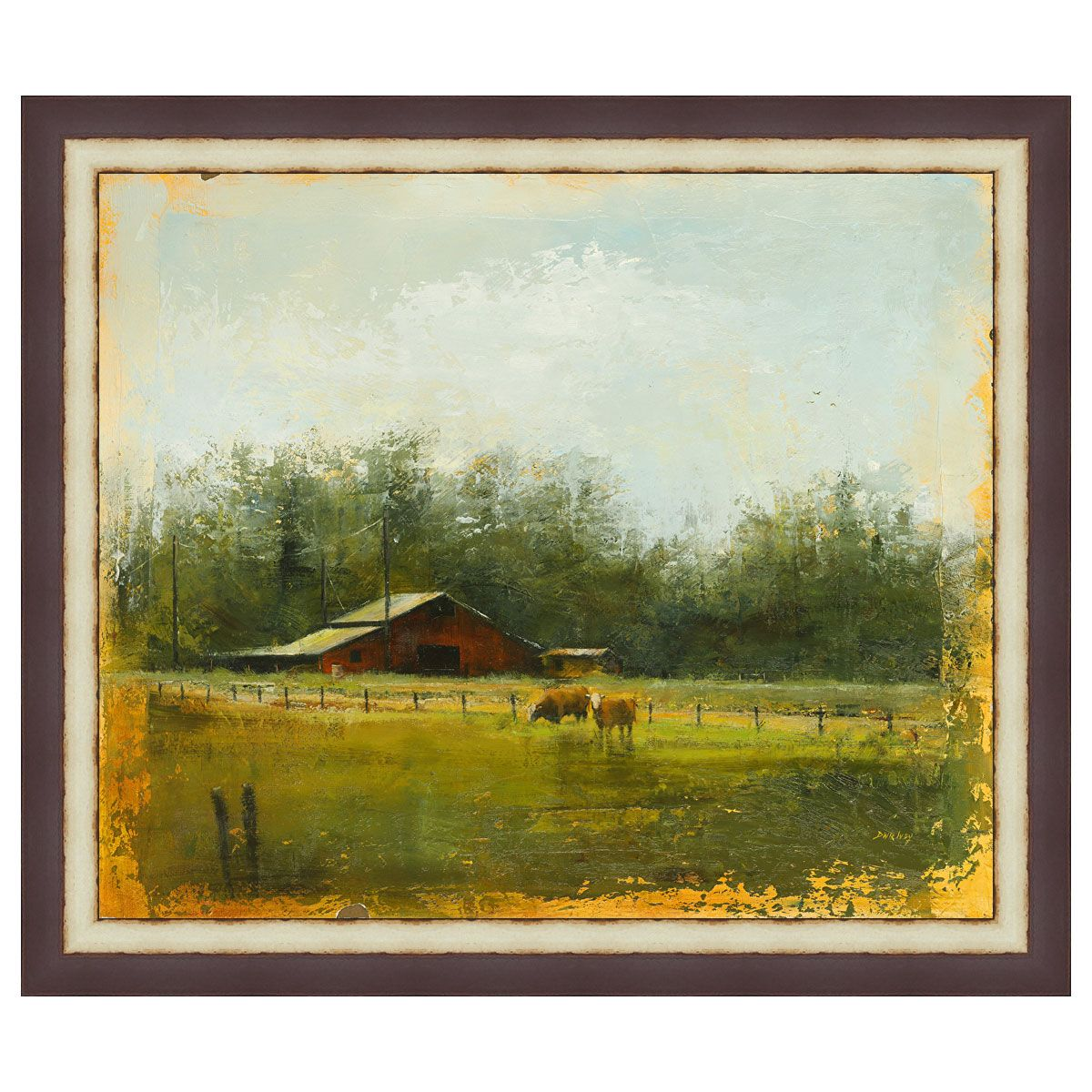 Red Barn Framed Canvas