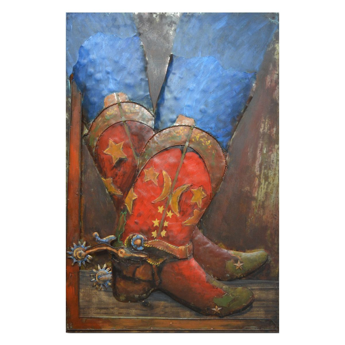 Red Boots Metal Wall Art