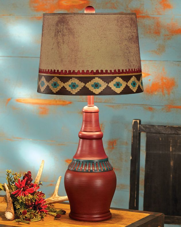 Rustic Lamps Red Canyon Southwest Table Lamp