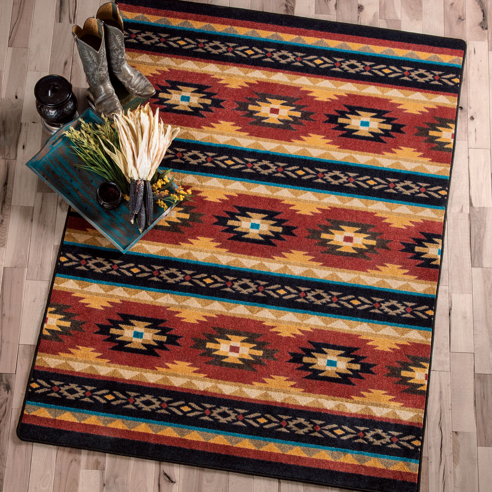 Red Deer Lodge Rug - 5 x 8