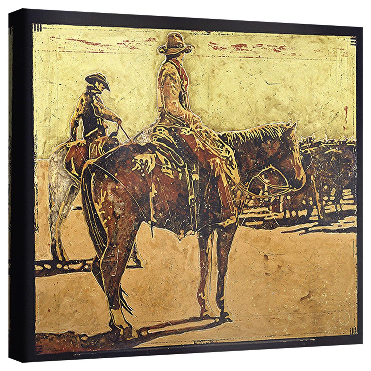 Red Dirt Riders Wrapped Canvas