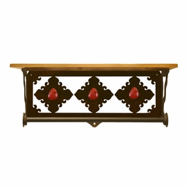 Red Jasper Stone Bath Wall Shelf - 20 Inch