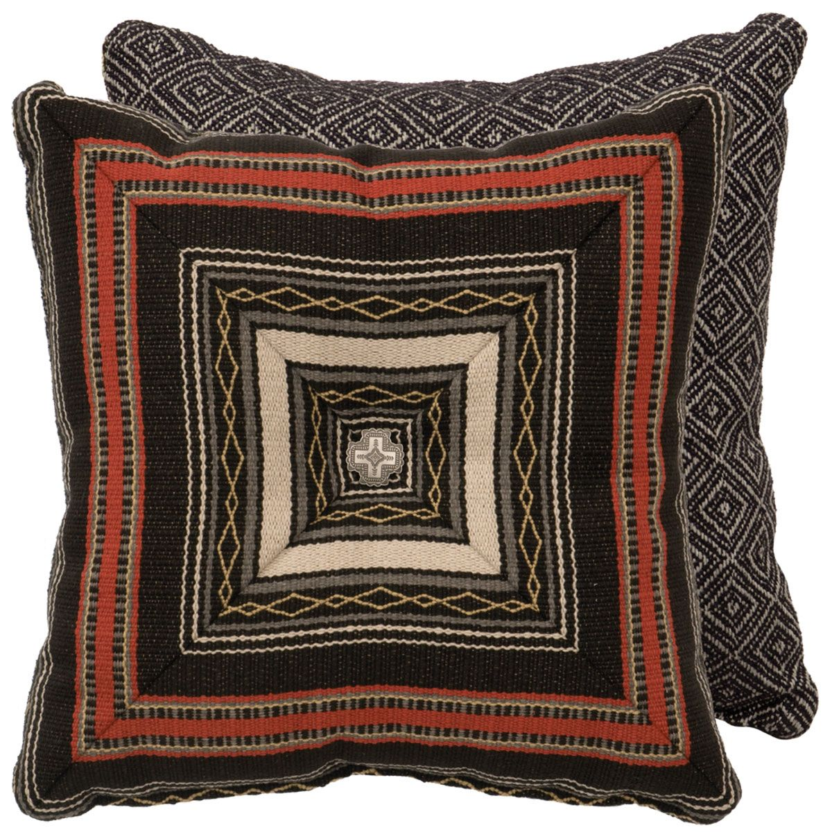 Red Pepper Southwest Stripe Pillow
