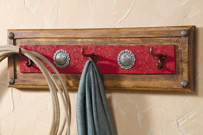 Red Ranch Coat Rack
