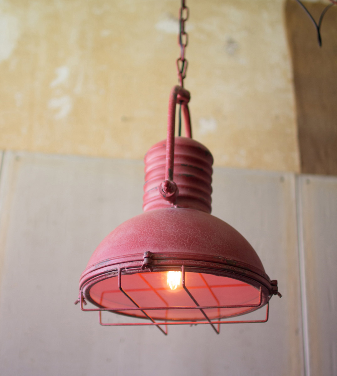 Red Rustic Pendant Light - OVERSTOCK