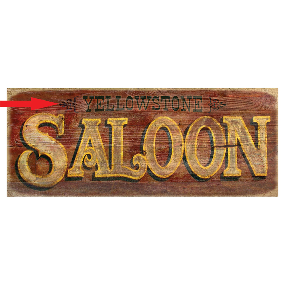 Red Saloon Personalized Sign