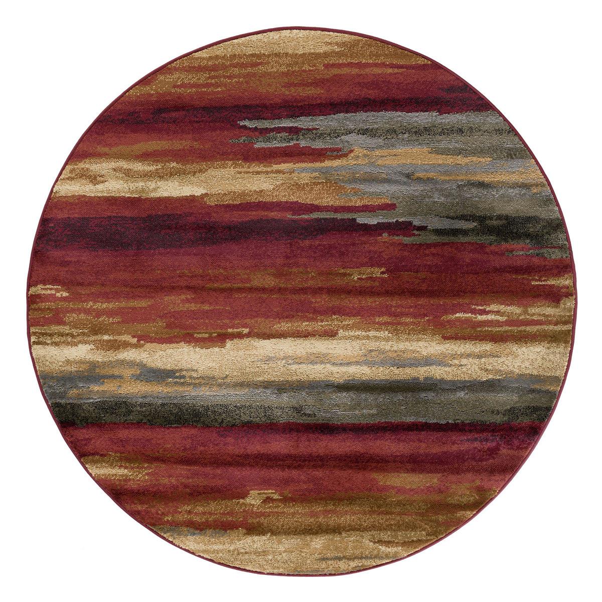 Red Sand Strata Rug - 5 Ft. Round