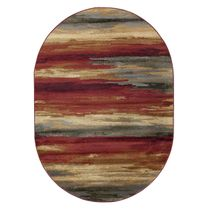 Red Sand Strata Rug - 5 x 7 Oval