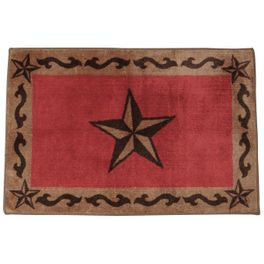 Red Star Bath Rug