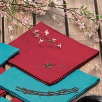 Red Star Napkin Set - 4 pcs