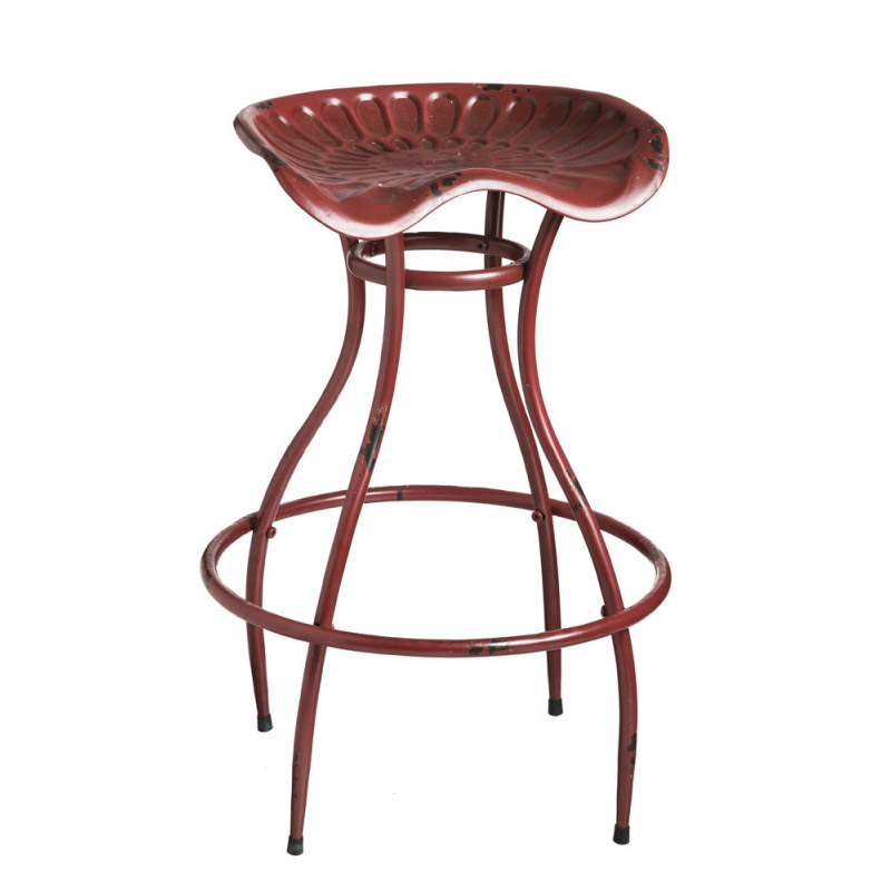 Red Tractor Barstool