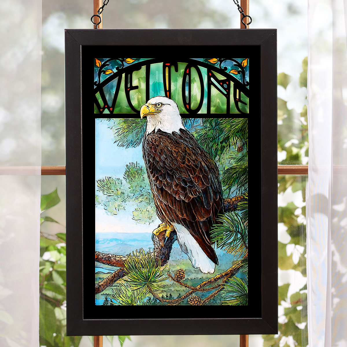 Regal Eagle Stained Glass Art
