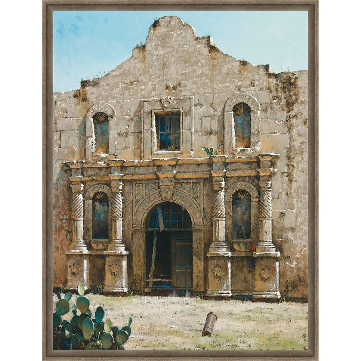 Remembering the Alamo Framed Canvas