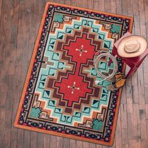 Reservations Turquoise Rug - 3 x 4