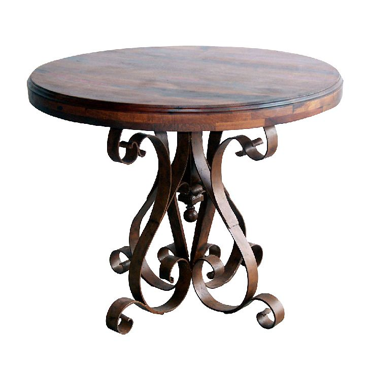 Ribbon Scroll Round Occasional Table