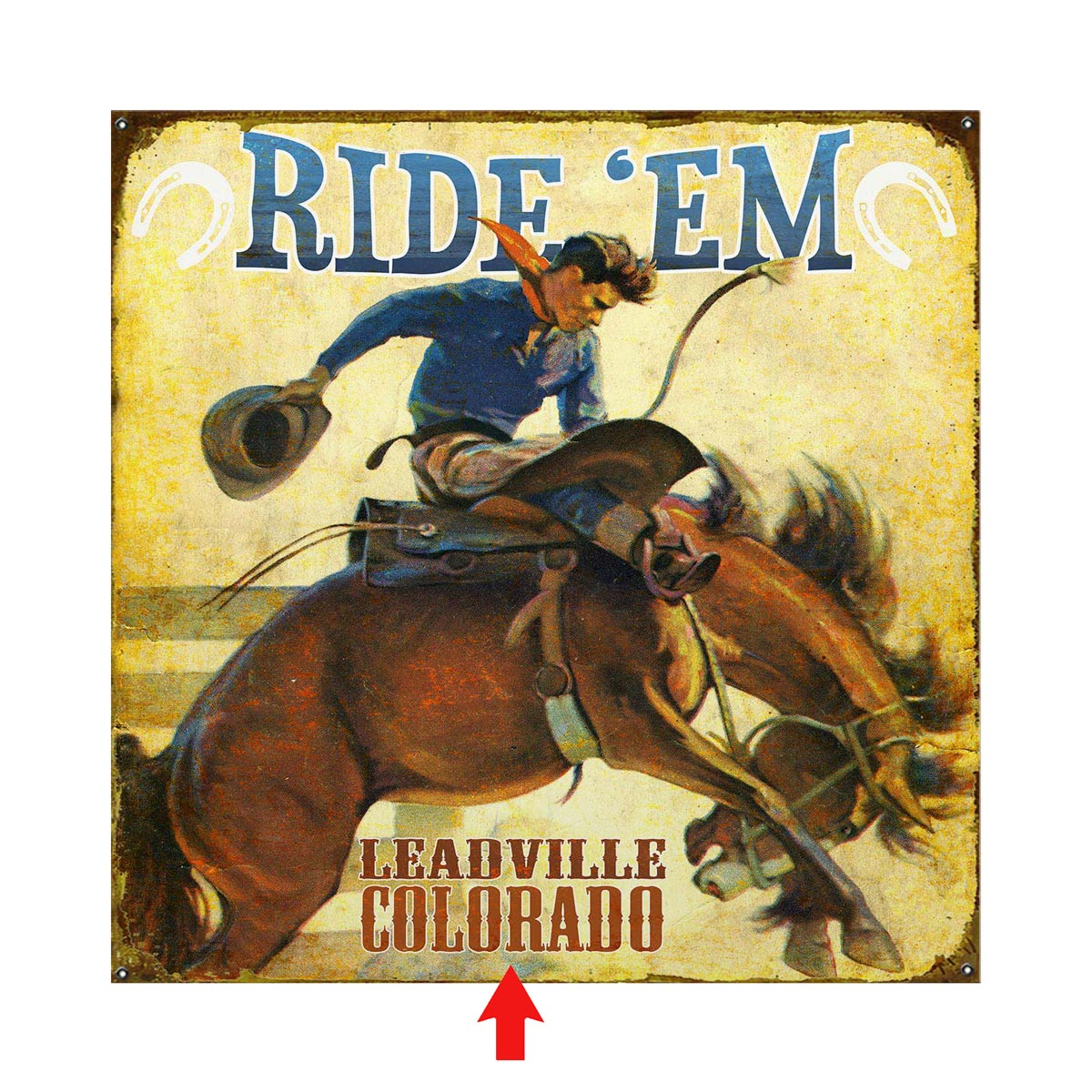 Ride 'Em Personalized Sign - 28 x 28