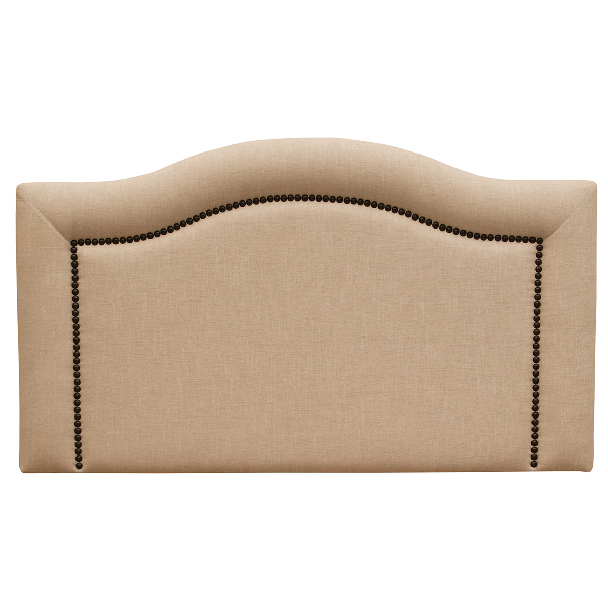 Ridge Linen Natural Headboard - King