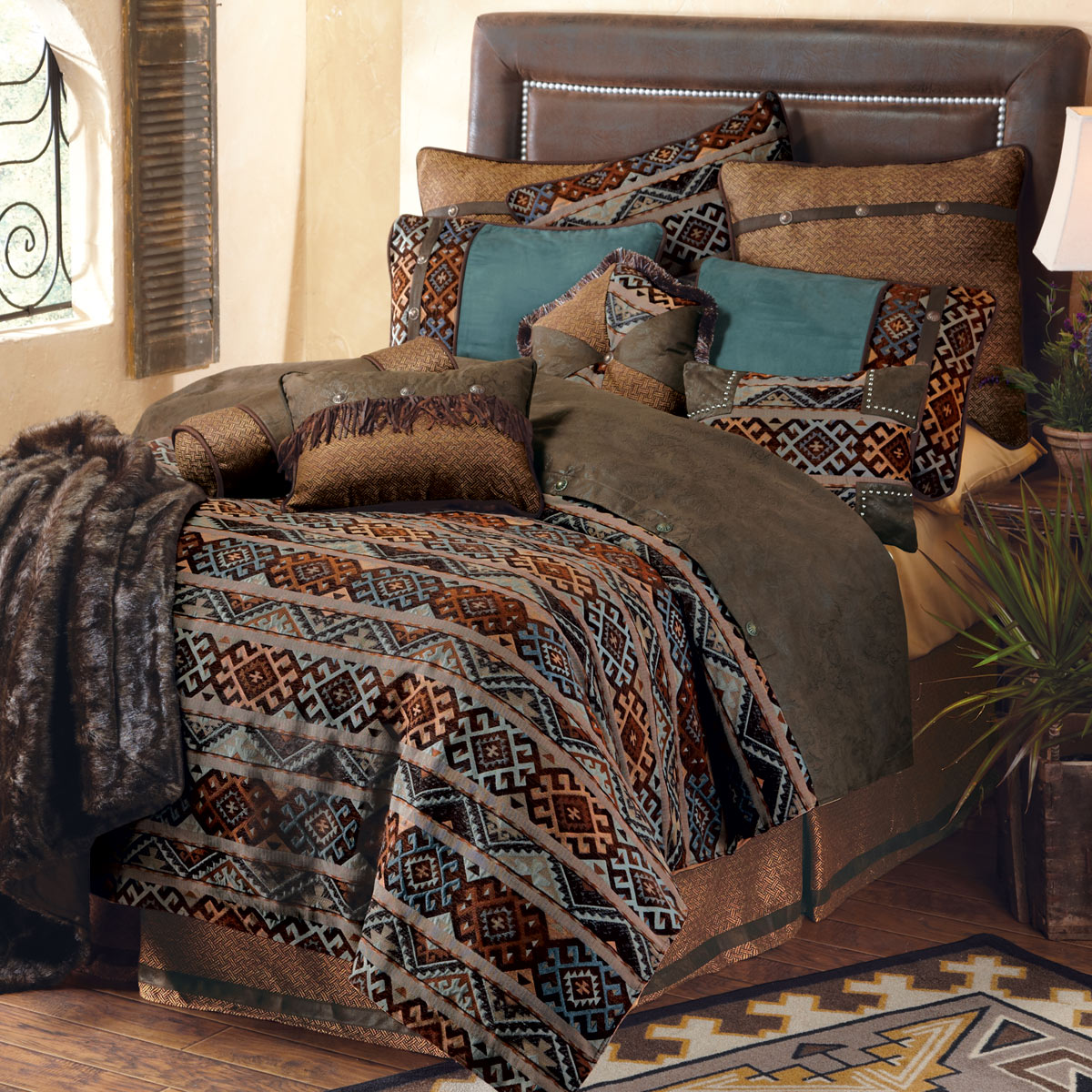 Western Bedding Full Size Rio Grande Bed Set Lone Star