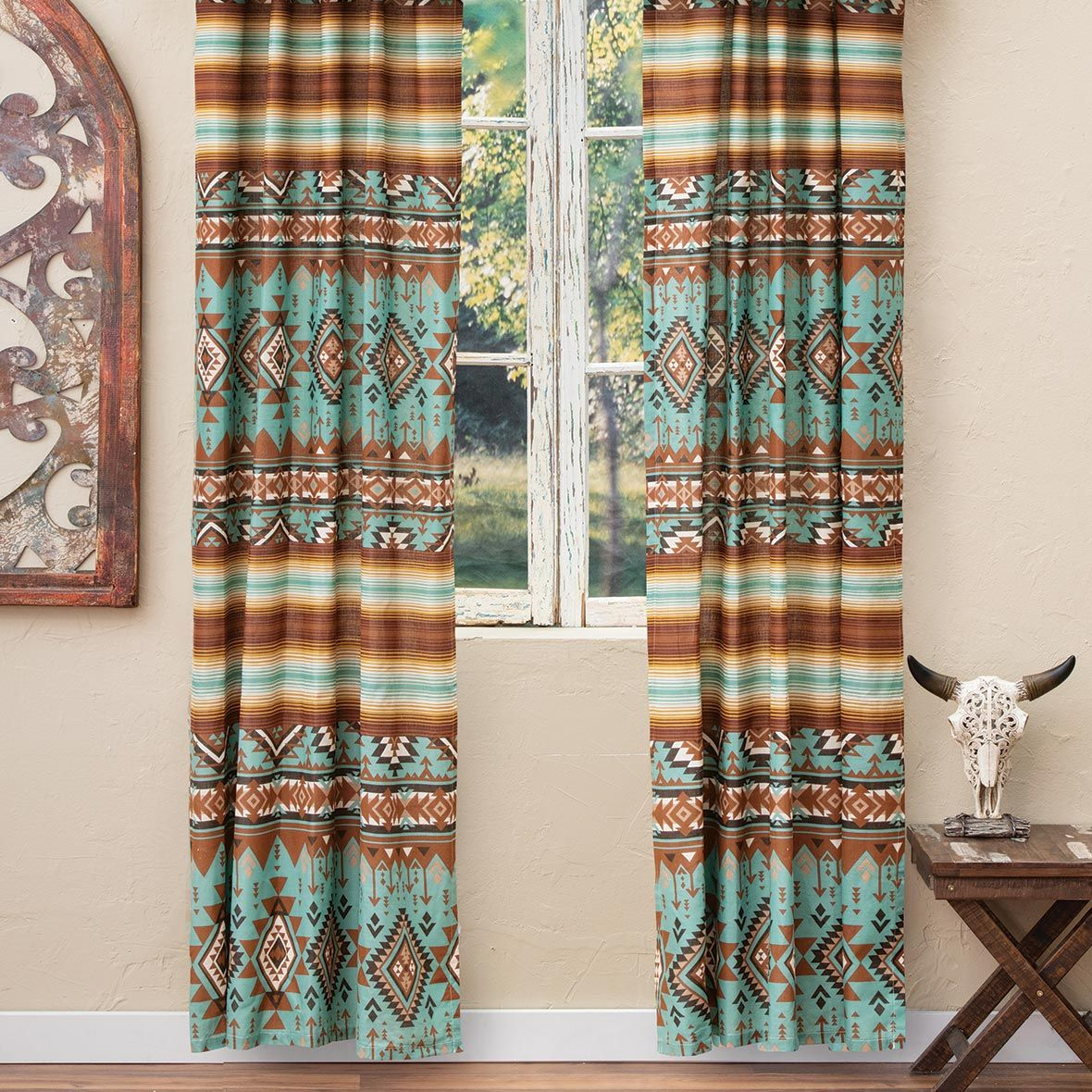 Rio Turquoise Lined Drapes