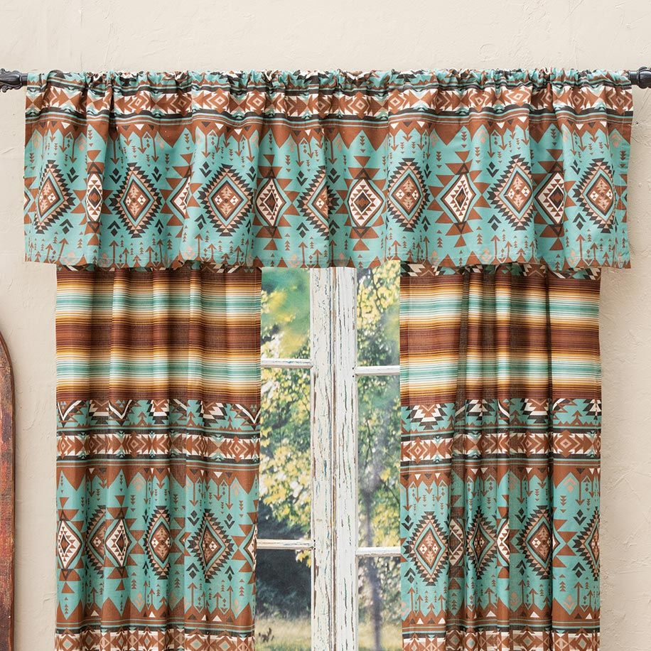 Rio Turquoise Lined Valance