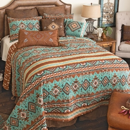 Rio Turquoise Quilt Bedding Collection
