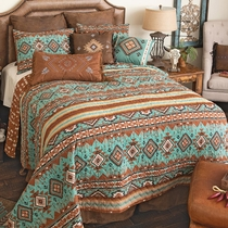 Rio Turquoise Quilt Set - King