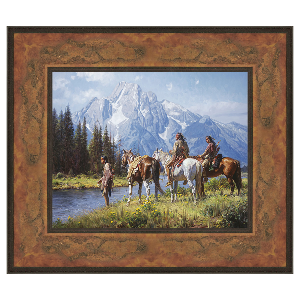 Rivers Edge Framed Canvas
