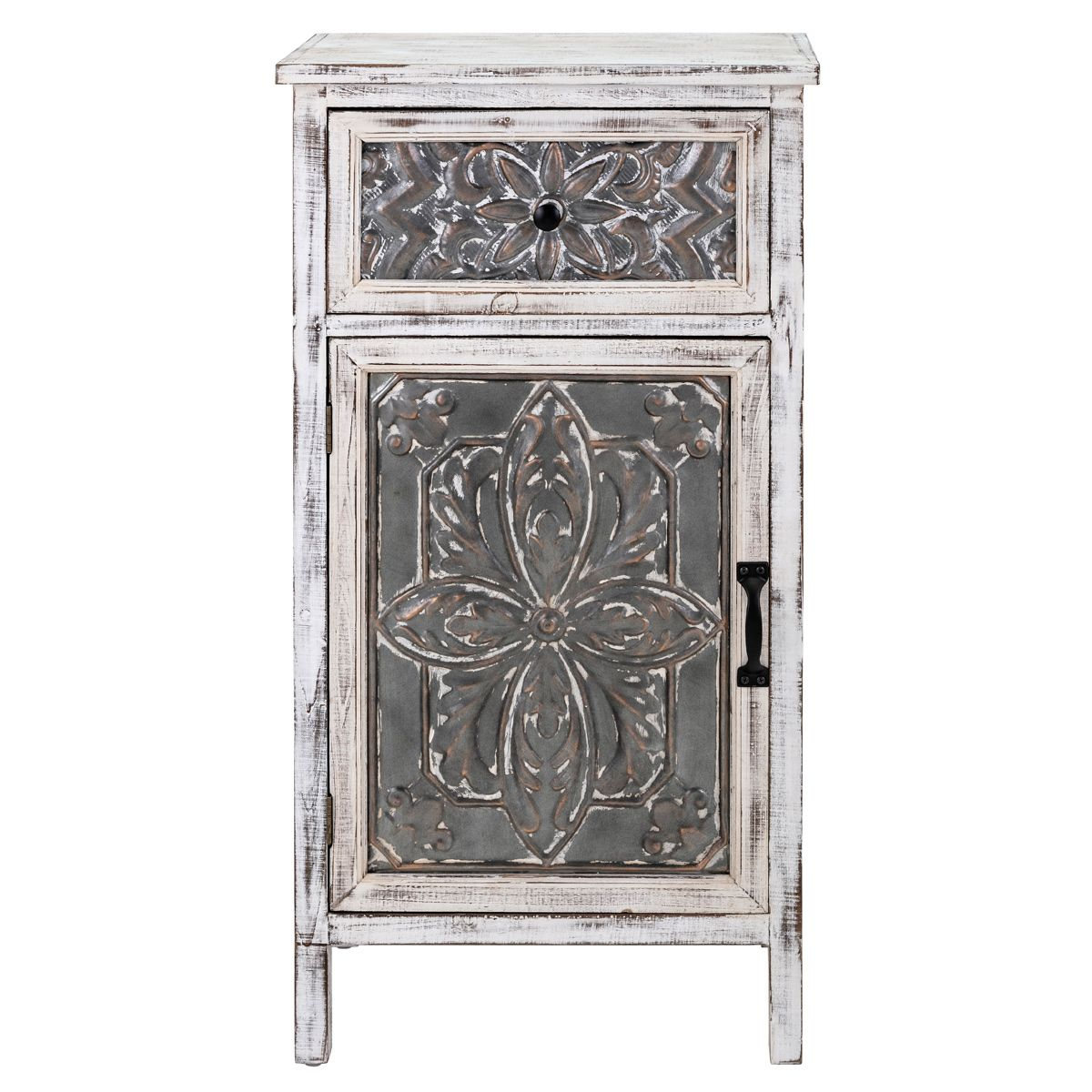 Roanoke Galvanized Accent Cabinet
