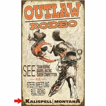 Rodeo Bronc Personalized Sign - 14 x 24