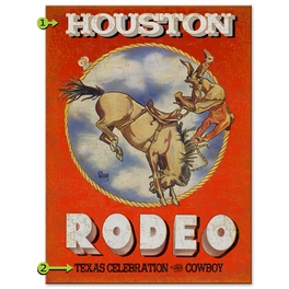 Rodeo Bronc Personalized Sign - 28 x 38