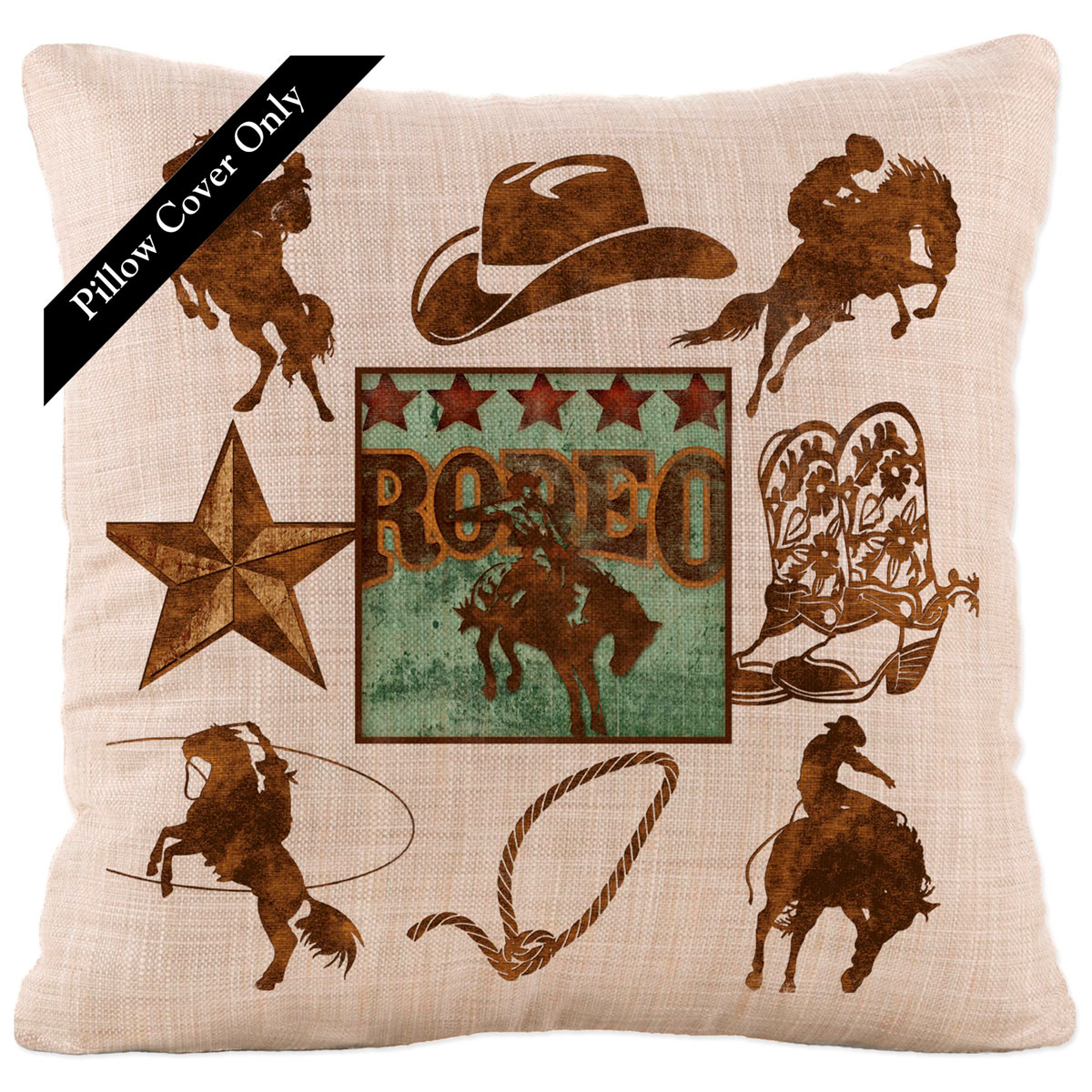 Rodeo Icon Icons Pillow Cover