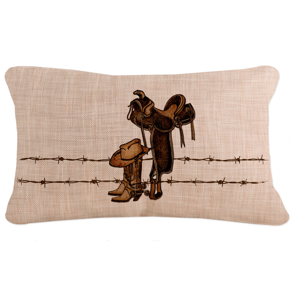 Rodeo Icon Rectangle Pillow