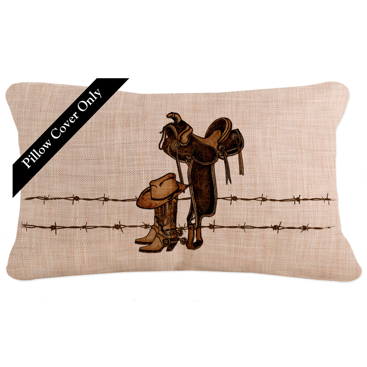 Rodeo Icon Rectangle Pillow Cover