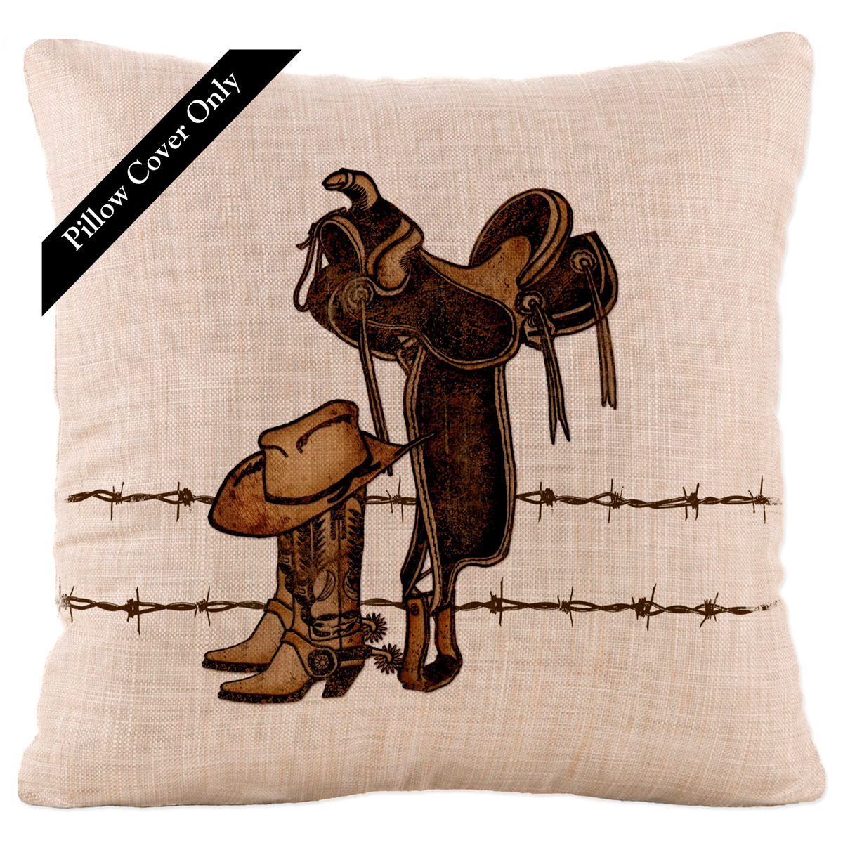 Rodeo Icon Square Pillow Cover