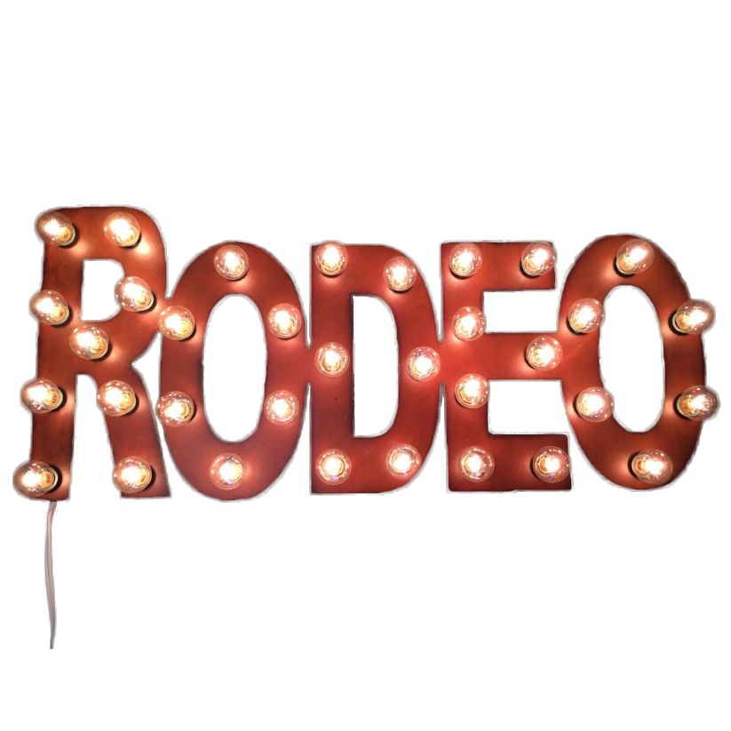 Rodeo Lighted Marquee Sign
