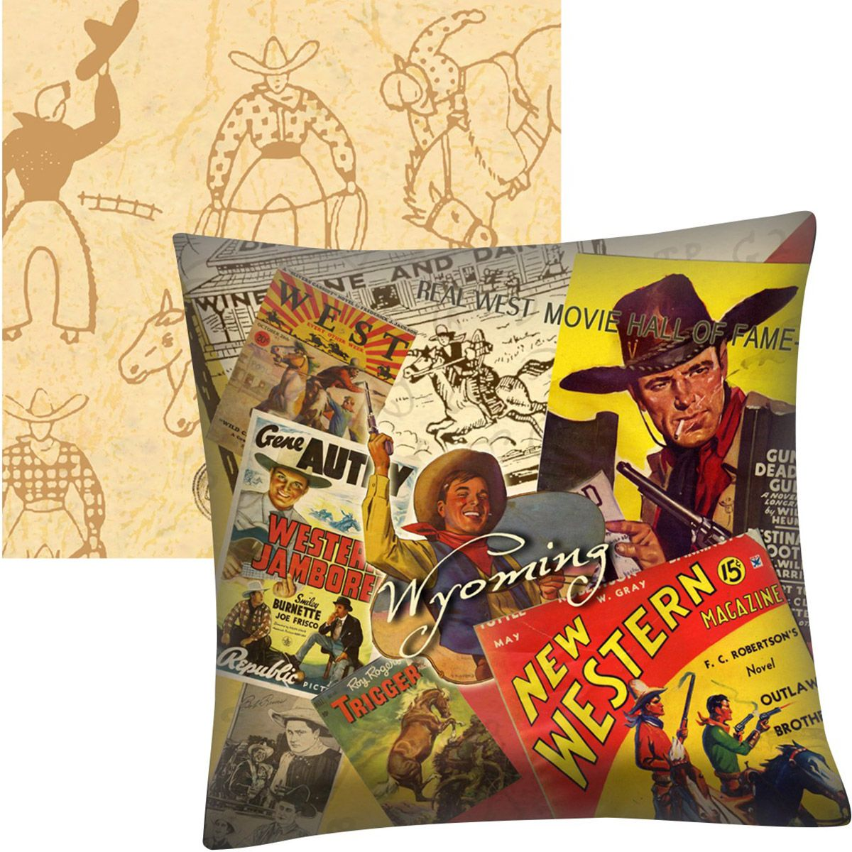 Rodeo Personalized Vinyl Pillow - 18 x 18