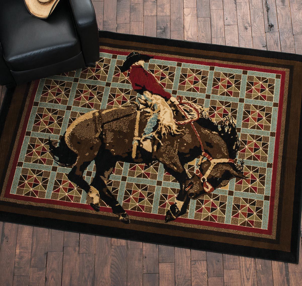 Rodeo Star Quilt Rug - 8 x 10