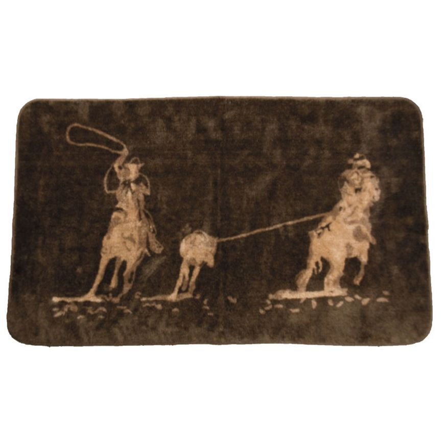 Roping Cowboys Bath Rug - 2 x 3